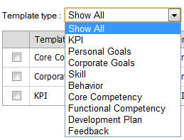Template form Employee Performance appraisal